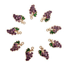 10Pcs/lot Alloy Enamel Grape Fruit Charms Pendants Craft DIY Jewelry FindingNWNA