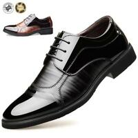 Men's Casual Leather Smart Formal Wedding Business Shoes Trainers Casual Loafers