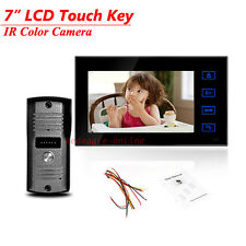 Wired 7 inch Touch Screen Color Video Door Phone Intercom Bell system IR Camera