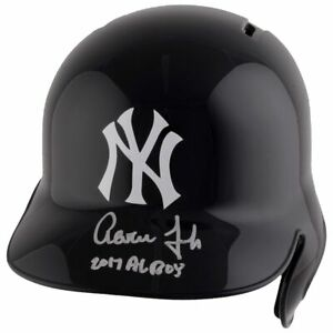 "AARON JUDGE Autographed ""2017 AL ROY"" Yankees Batting Helmet FANATICS"