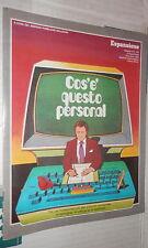 ESPANSIONE N 163 1983 COS E QUESTO PERSONAL Usi fondamentali piccoli computer di