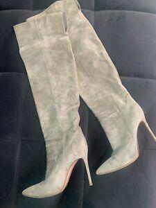 Gianmarco Rossi grey heels boots EU SZ 39