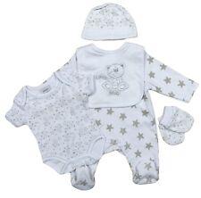 Pelele Bebé Camiseta Babero Mitones Costra Láctea Canastilla Five Piece Set Niño