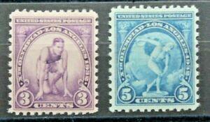 STATI UNITI 1932 OLIMPIADI LOS ANGELES SERIE INTEGRA MNH** SET 2 V. (C.5A)