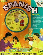 96pg SPANISH Homeschool WorkBook w/Music CD & Pronunciation Guide Ages 5+