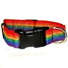 Gay Pride Nylon Dog Collar Rainbow Size Small