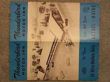 1958 Thunderbird  MOTOR INN – Open All Year  BETHEL MAINE  QUALITY COURTS UNITED