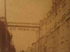 Antique Victorian Milwaukee Jacob Best Brewing Co Pre Pabst Beer Rare Photograph