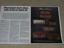 Phase Linear 1976 Ad, 2 pg, 700b Amplifier, 400,200,4000 Preamp,2000, 5000 Tuner