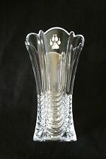 Wolf Paw Vase Flower/Table Cut Crystal Glass Vase Hunting Gift