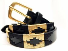 Gold and Black Horse Riding Belt Embroidered Belt Kids and Ladies Sizes