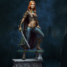 1/24 Scale 75mm Ancient Female Warrior Figure Model Standing Woman Garage Kits
