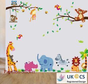 Jungle Animal/Teddy Bear/Owl Kids Nursery Baby Boy Girl Wall Sticker Decal Decor