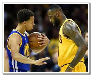 """Great Player 12""""x14"""" Sport Silk Poster LeBron James Stephen Curry Wall Decals"""