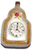 Exklusive Taschenuhr aus Glas nostalgischer Christbaumschmuck Lauscha Handarbeit