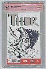 Thor #1 2014 Marvel Jane Foster Thor Sketch/Signed Ken Haeser Sketch CBCS 9.8