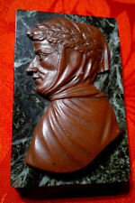Rare Antique Grand Tour marbre sculpté stone Paperweight depicting Petrarcha