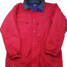 Vintage Patagonia Men's XL Red Insulated Parka Winter Jacket 84161 Rare