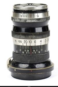 Lens Zeiss Triotar 4/8.5cm 85mm No1447904 Black Nickel  for Zeiss Ikon  Contax I