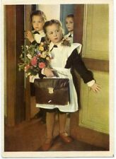 1960 School Girls on Sept 1st Photo  Russian postcard