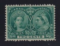 Canada Sc #52 (1897) 2c green Diamond Jubilee Mint VF NH