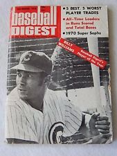 December 1970 Baseball Digest-Chicago Cubs Billy Williams