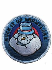 Suck It Up Snowflake - Embroidered Tactical Morale Patch with hook backing