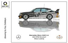Coffee Mug 1991 DTM Mercedes-Benz 190E 2.5 #8 Klaus Ludwig (GER) by Guy Golsteyn