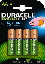 8 x AA Duracell 2500 mAh Duralock kompakt Schnell Ladegerät