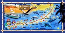 "30""x60"" ""The Florida Keys"" Velour Beach Towel ""Made in Brazil"""