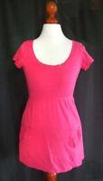SHIRT Kleid Mini TUNIKA Oberteil Tunika Gr. XS 32 34 Mädchen Damen Pink uni K20