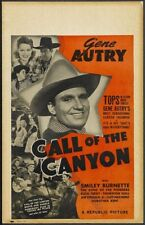 Call of the canyon Gene Autry western movie poster print