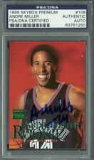 Cavs Andre Miller Authentic Signed Card 1999 Skybox Premium RC #108 PSA Slabbed