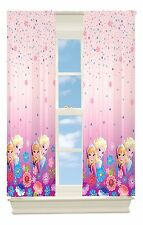 "NEW Disney Frozen Window Panel 42""x 63"" Pink Anna Elsa 2"" Rod Pocket Polyester"