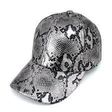SHINY SILVER BLACK SNAKESKIN PRINT HAT ( 2309 )