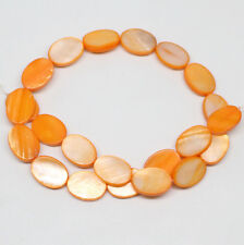 13mmX18mm Oval Shell Orange Mother of Pearl loose beads 15.5 inches STRAND
