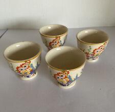 X4 Vintage Floral Designs Porcelain Egg Cups