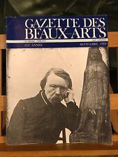 Gazette des Beaux-Arts Septembre 1980 PUF 1340 Voltaire David D'angers Salon