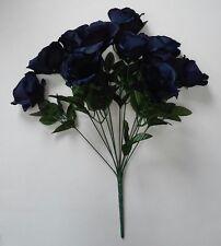 """Navy Rose 20"""" Bouquet Silk Flower Home Office Kitchen Patio Wedding Decor"""