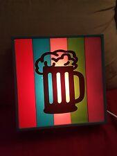 Beer Mug Light Box Bar Sign MoMan Cave Target 2001