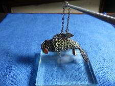 Vintage Chinese Export Enamel Cloisonne Sterling Silver Articulated Koi Fish