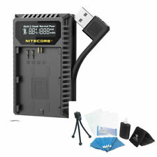 PRO NEW NITECORE FX1 USB Charger For Fujifilm NP-W126 X100F X-T20 X-Pro2 X-E2 ++