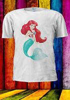 Disney Princess Ariel Little Mermaid T-shirt Vest Tank Top Men Women Unisex 487