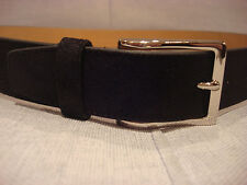 COLE HAAN 32MM SUEDE BLACK BELT CHRM31024 SIZE 38 - BRAND NEW $80
