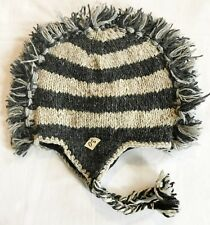 H80 Hand Knitted Mohawk Woolen Hat Cap with Fleece Lining Adult Made In Nepal