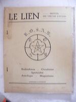 Le Lien Radiesthésie Occultisme Spiritualité Astrologie Magnétisme Jui Août 1962