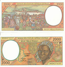 Central African St. / Tschad / Chad - 2000 Francs 2000 UNC - Pick 603Pg