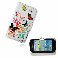 Wallet Style Leather Flip Phone Case Cover For Samsung Galaxy S3 III Mini i8190