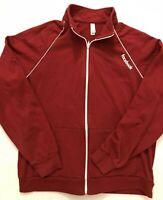 American Apparel Facebook Official Red Jacket Fleece Zip Front Size M Medium