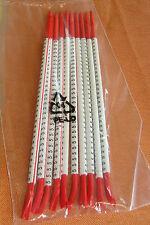 """10 Stäbe Kabelmarkierer rot Zahl """" 5 """" Markierungsringe zum Aufschnappen 3418"""